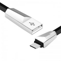 Cablu Hoco X4 Zinc Alloy Rhombus Charging data cable for TYPE C, Black