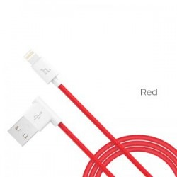 Cablu Hoco Upl11 L Shape Charging data cable for Lightning, Red