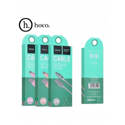 Cablu Date si Incarcare USB la MicroUSB HOCO Knitted X2, 1 m